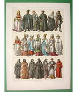 GREECE Poland Macedonia Modern Costume Priests Courtesan - COLOR Antique... - $17.55