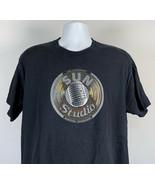 Legendary Sun Record Company T Shirt Mens Large Black Memphis Tennessee - $21.73