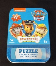 Nickelodeon Paw Patrol mini puzzle in collector tin 24 pcs New Sealed #2 - $3.50