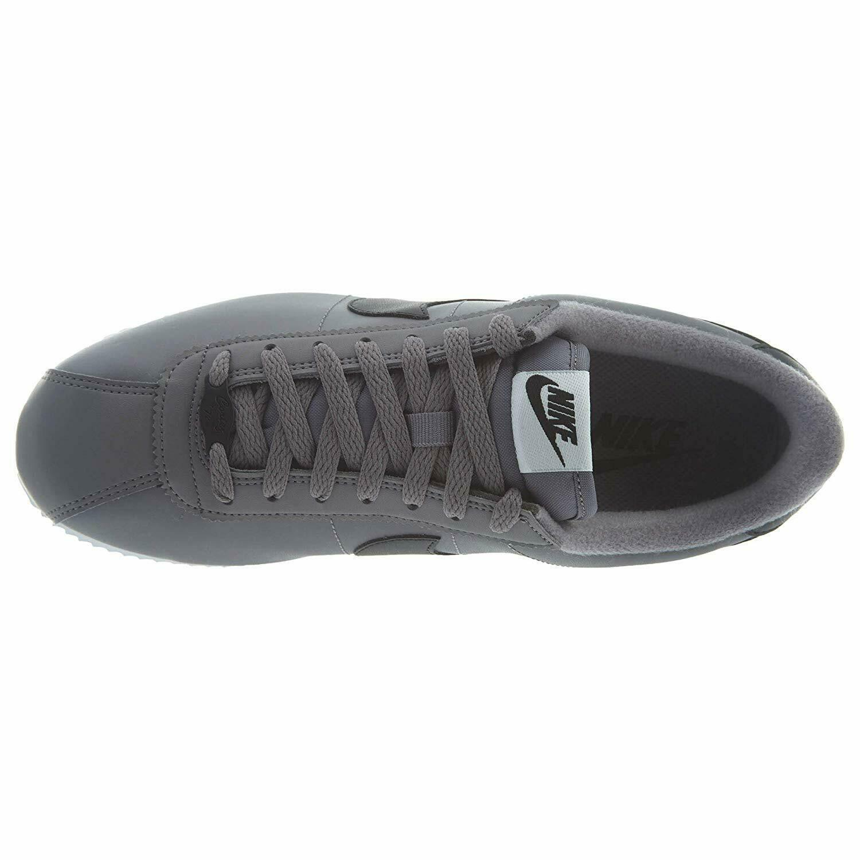 Nike Cortez Basic Leather Gunsmoke Black White 819719-004 Mens Sneakers