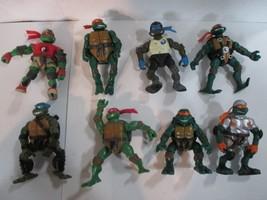 """Lot 8 Teenage Mutant Ninja Turtles 5"""" Action Figures 2003 - 2005 - $34.65"""