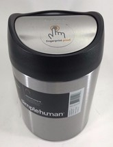 Simplehuman 1.5 Liter Counter Mini Trash Can, Fingerprint-proof Stainles... - $19.75
