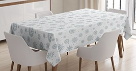 """Ambesonne Winter Tablecloth, Pattern with Ornate (60"""" X 90""""