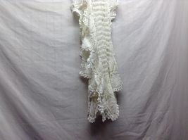 Vintage Hand Crocheted Table Pieces and White/Off white Table Cloth image 10