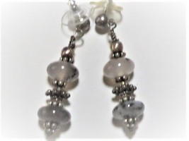 Agate teardrop necklace and earring set  16 inches image 3
