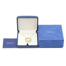 MIKIMOTO Authentic K18YG 7.6mm Pearl Pendant Necklace about 45cm Used Japan - $1,092.28