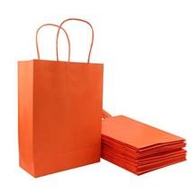 Orange Gift Bags, Sdootjewelry 36 Pcs Kraft Paper Gift Bags Bulk with Handles, M