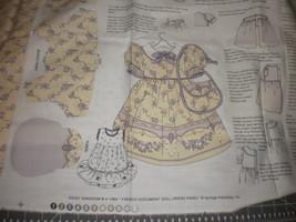 "Daisy Kingdom French Document Daisy Dolly Dress panel fits 17-19"" dolls uncut - $29.95"