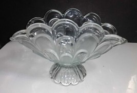 Crystal Clear TOSCANA Banana Fruit Bowl Centerpiece Frosted & Clear Loop... - $15.84