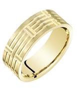 14K Yellow Gold 7mm Comfort Fit Wedding Band - $379.99