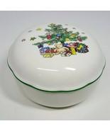 "Nikko Christmastime Covered Bon Bon Dish with Lid 5"" Porcelain Made in J... - $19.99"
