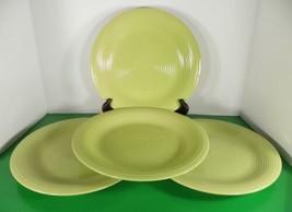 Certified International CHARTREUSE Dinner Plate (s) LOT OF 4 Swirl Pattern - $37.57