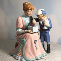 LENOX PORCELAIN FIGURINE The Present 1989 vintage statue school boy drei... - $64.35