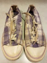 Converse One Star Girl Purple & White Plaid Sneaker/Shoe Size 1 - $3.99