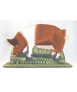 1990 Lancaster County Carved Wood Polychrome Painted Folk Art Pig Sow by Menno - $70.00