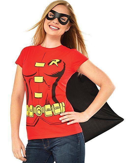 Rubies Dc Comics Robin Adulte Femmes Déguisement Halloween Masque Chemise Cap