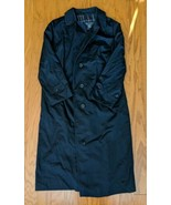 Burberry's Womens Navy Cotton Polyester Trench Coat Small - $130.89