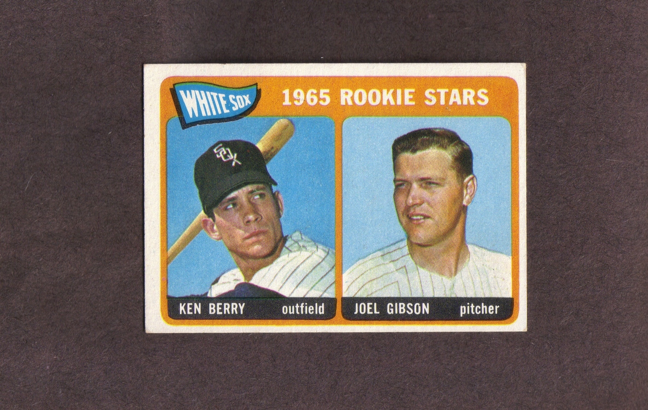 1965 Topps # 368 Ken Berry Joel Gibson Chicago White Sox