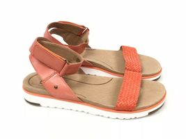 Ugg Australia Laddie Women's Ankle Strap Fire Opal Orange Sandal 1015669 Shoes image 4