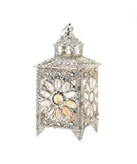 Modern Candle Lantern, Metal Crown Jewels Tabletop Lamp Candle Lantern, ... - $49.99