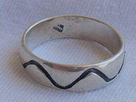 Lines silver ring - $22.00