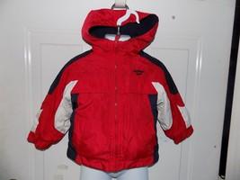 OshKosh B'gosh Reversible Hooded Coat Red/Blue/White Size 18 Months Boy's - $16.80