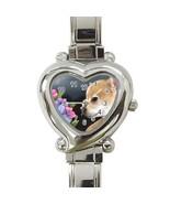 Heart Italian Charm Watch, painting Dog 77 Chih... - $15.99