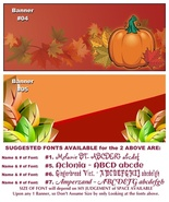 LIMITED TIME, I'll Put YOUR BOOTH'S NAME in an Autumn Banner READ DETAILS - $0.00