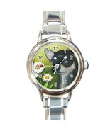 Italian Charm Watch from art painting Dog 79 bl... - $15.99