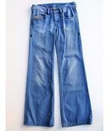 Wide Leg Jean Flare Bottom Jeans Button Fly Low RiseDiesel Vixy  25x32 $... - $41.58