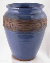 Maine Art Pottery Vase Signed Border of Trees M... - $18.95
