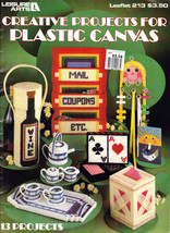 CREATIVE PROJECTS FOR PLASTIC CANVAS 13 PROJECTS LEAFLET 213 - $4.00