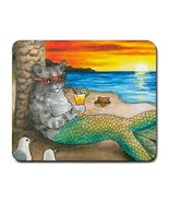Mousepad from original Art painting Cat Mermaid 25 - $14.99