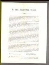 Barton Buffalo Aiken Franklin NH Axe patent dispute broadsheet 1856 anti... - $9.99