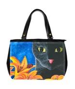 Office Handbag bag purse art painting Cat 551 l... - $48.99