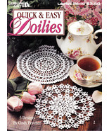 QUICK & EASY DOILIES 5 DESIGNS BY CINDY PEECHER LEAFLET 2658 - $3.00