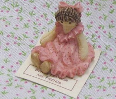Bonnie franklin ragdoll pink figurine gemjanes dollhouse miniatures 4first