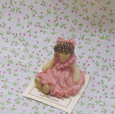 Dollhouse Miniature Toy Rag Doll 1:12 Bonnie Franklin & Friends pink