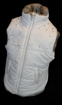 The Childrens Place Girls Size Small 5-6 White Reversible Puffer Vest  - $8.60