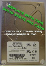 "SSD HITACHI DK223A-81 Replace with this SSD 1GB 2.5"" 44 PIN IDE SSD Card"