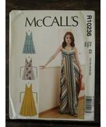 New Uncut MCCALLS Pattern E5 R10235 Misses Summer Maxi DRESSES US Size 14-22 - $4.85