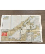 1988 VINTAGE PECONIC & GARDINERS BAYS LONG ISLAND NY WATERPROOF CHART #6... - $20.99