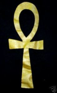 ANKH T-Shirt 100% Cotton Metallic Gold on Black