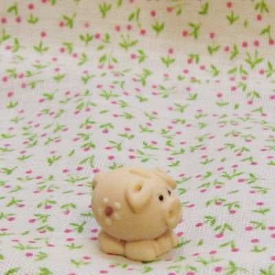 Dollhouse Child's Piggy Bank tiny chubby pink Miniature
