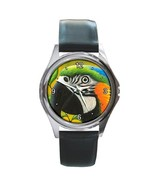 Round or Square Metal Wrist Watch, art Bird 50 ... - $16.99