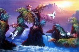 Mystical Cranes Oriental Paintings - $34.95