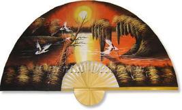"""40"""" width Asian Sunrise Oriental Wall Fans - $28.95"""