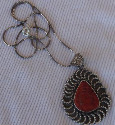 Red sea stone pendant P50