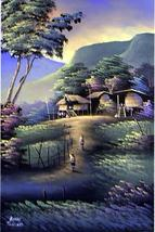 Blissful Day Oriental Paintings - $44.95
