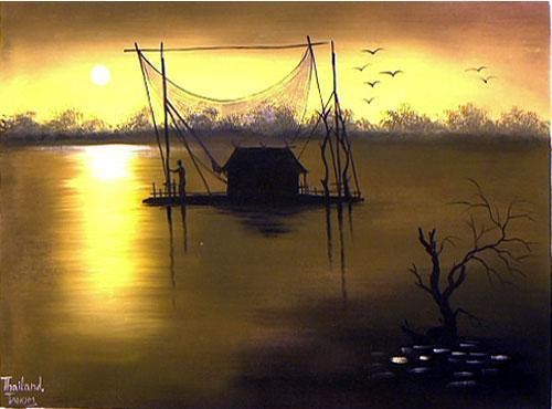 Morning in Asia Acrylic Landscape Paintings